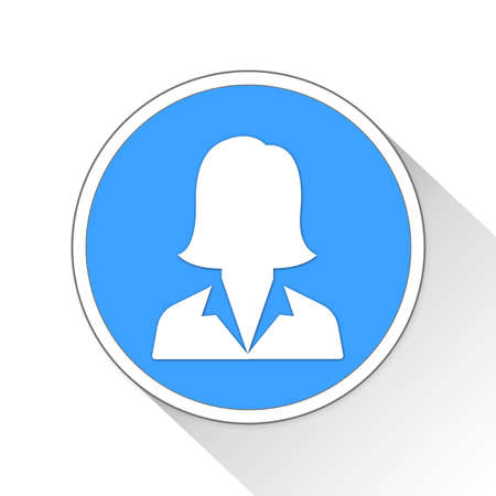 blue button: Businesswoman Button Icon Concept No.11887 Stock Photo