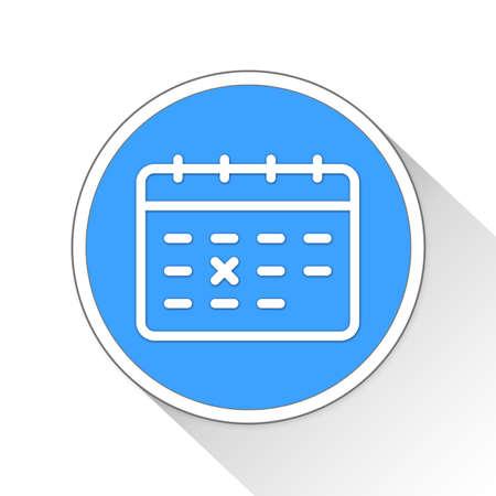 calendar icon: Calendar Button Icon Concept No.805