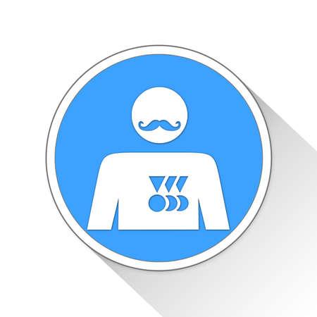 prestige: Businessperson Button Icon Concept No.8178 Stock Photo