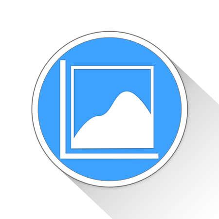 Area Chart Button Icon Concept No.13486