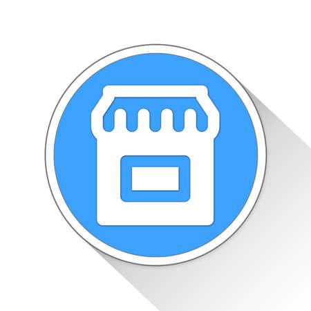 simple store: Store Button Icon Concept No.297
