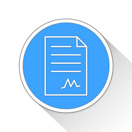 signing papers: contract document Button Icon Concept No.11816