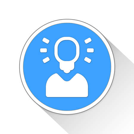 blue button: business idea Button Icon Concept No.6565 Stock Photo