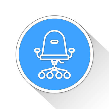 office furniture: office chair Button Icon Concept No.11117