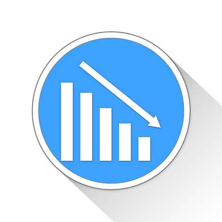Low Sales Button Icon Concept No.9347