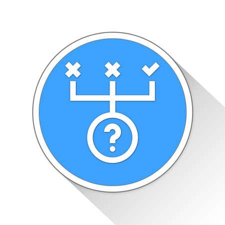 Correct Answer Button Icon Concept No.13740 Stock Photo