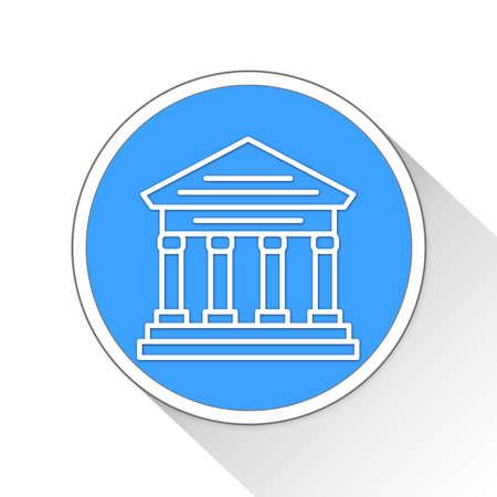 courthouse: Bank Button Icon Concept No.1172
