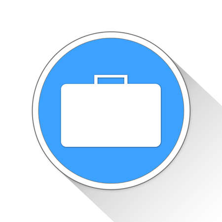 blue button: Briefcase Button Icon Concept No.10763 Stock Photo