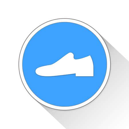 loafer: Shoe Button Icon Concept No.9236