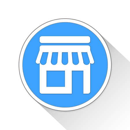 simple store: Shop Button Icon Concept No.12322 Stock Photo