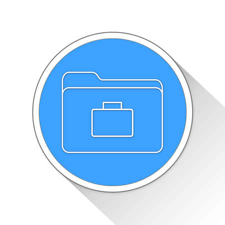 blue button: business folder Button Icon Concept No.2689