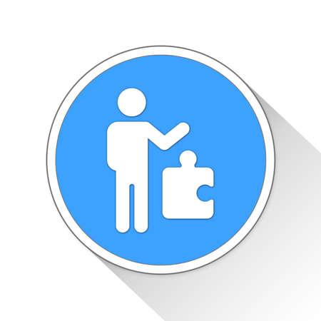 solver: Problem Solving Button Icon Concept No.5394