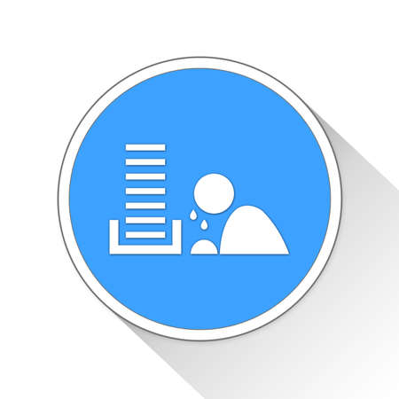 overtime: Overworked Button Icon Concept No.14221