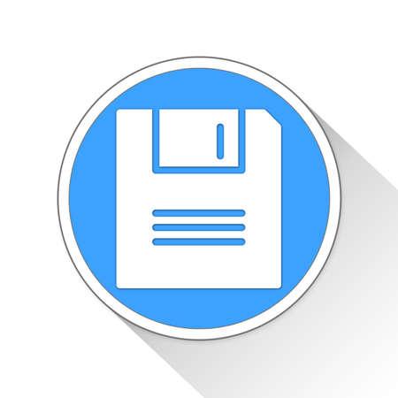 throb: Save Button Icon Concept No.10606 Stock Photo