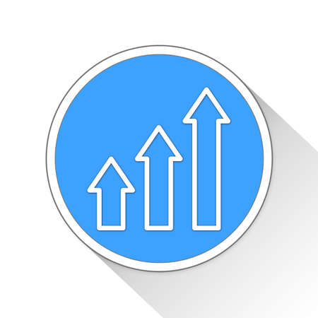 growth Button Icon Concept No.2978 Stock Photo