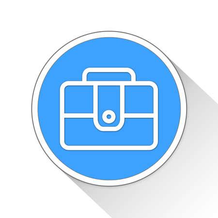 throb: Briefcase Button Icon Concept No.8958
