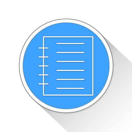 notebook: Notebook Button Icon Concept No.9114