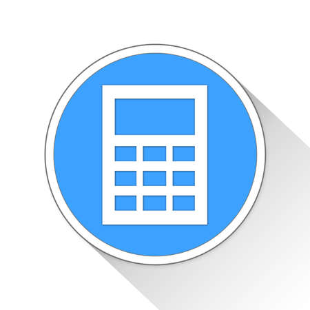 adder: Calculator Button Icon Concept No.10349 Stock Photo