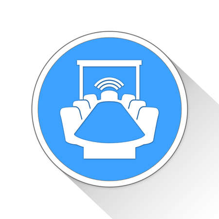 roundtable: conference room Button Icon Concept No.13882
