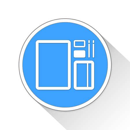 notebook: branding Button Icon Concept No.8602 Stock Photo