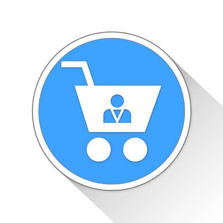 shopper: shopper Button Icon Concept