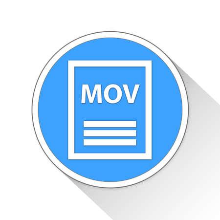 mov: mov Button Icon Concept