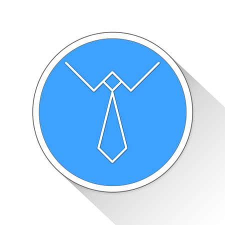 button up shirt: necktie Button Icon Concept Stock Photo