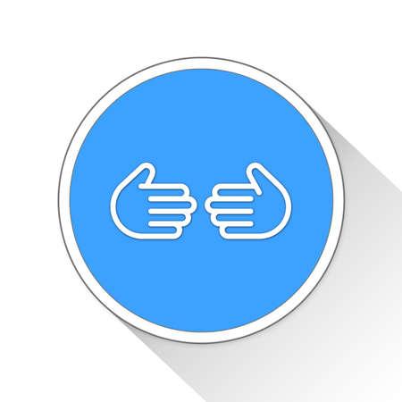 handgrip: Handshake Button Icon Concept