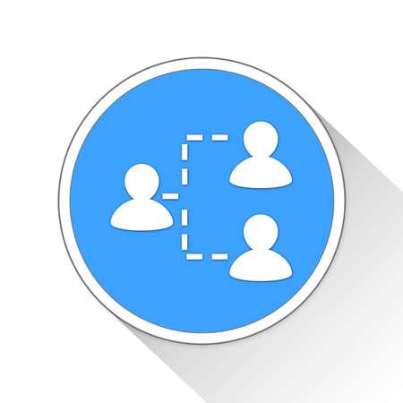 delegate: delegate Button Icon Concept Stock Photo