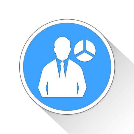 analyst: analyst Button Icon Concept