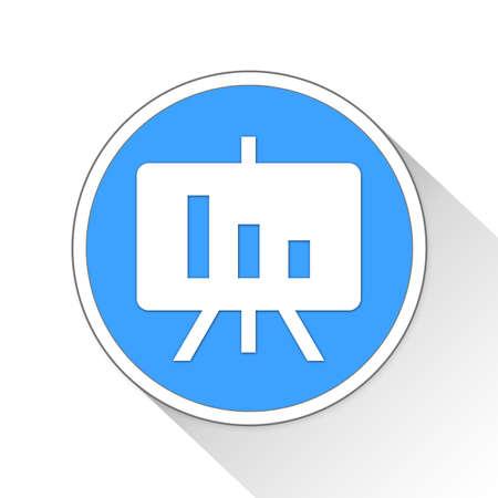 ppt: presentation Button Icon Concept Stock Photo