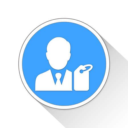 e commerce: buyer Button Icon Concept No.12163