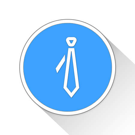 official wear: Tie Button Icon Concept Stock Photo