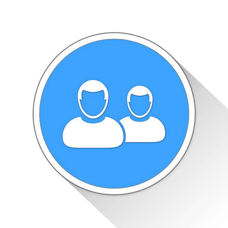 icon: users Button Icon Concept