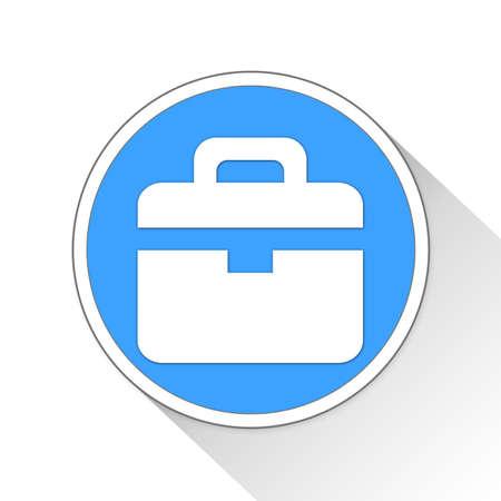 Briefcase Button Icon Concept
