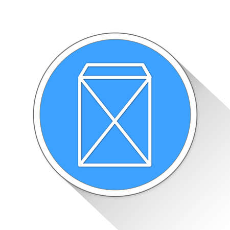 envelope: envelope Button Icon Concept Stock Photo