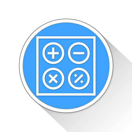 calculate: calculate Button Icon Concept