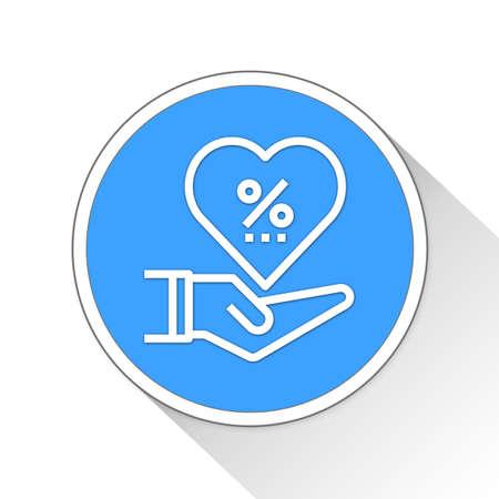 commission: commission Button Icon Concept