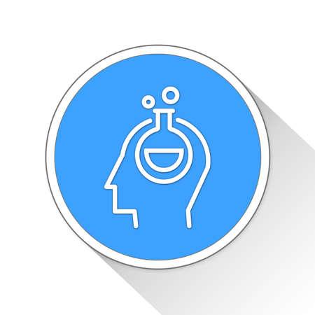 experimentation: experimentation Button Icon Concept