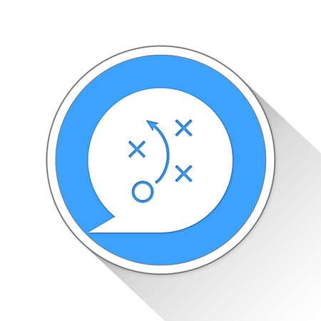 strategy Button Icon Concept Stock Photo