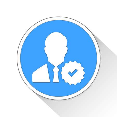 verified: verified Button Icon Concept