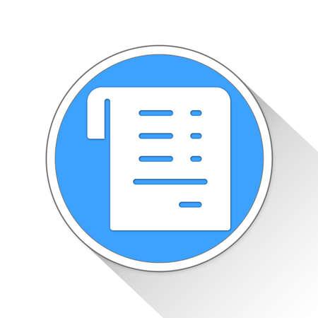 receipt: receipt Button Icon Concept