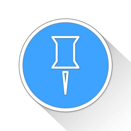tack: thumb tack Button Icon Concept Stock Photo