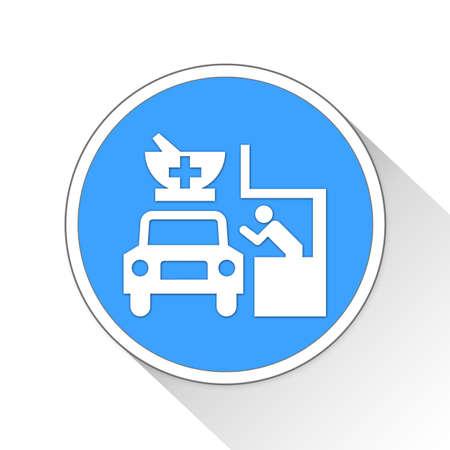 drive-through Button Icon Concept Stock Photo