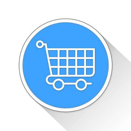 saved: Shopping Cart Button Icon Concept