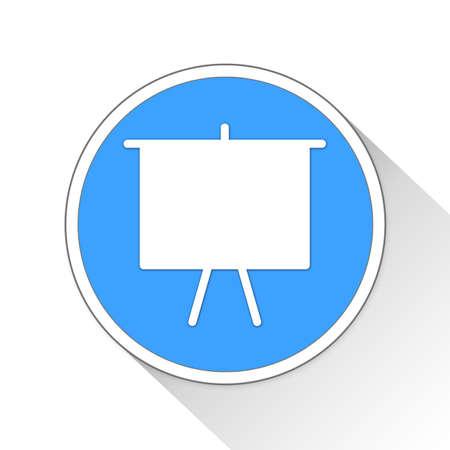 projector screen Button Icon Concep