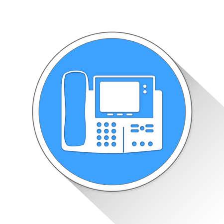 cordless: Fax Machine Button Icon Concept No.4591