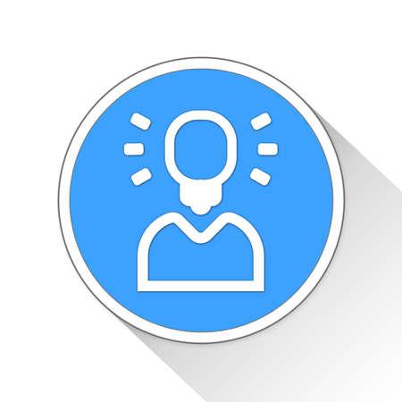 business idea Button Icon Concept No.6564 Stock Photo