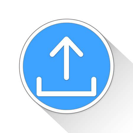 Upload Folder Button Icon Concept No.9662 Stock Photo