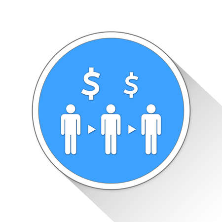 resale: Intermediary Button Icon Concept No.13762